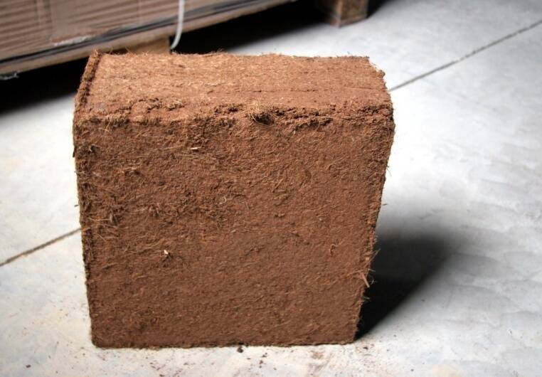 Photo of a block of coir.